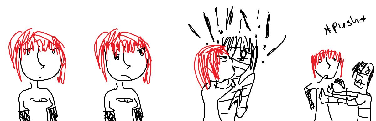 Mez and Algae kiss